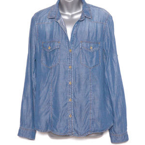 Cloth & Stone Large Chambray Top (d23)